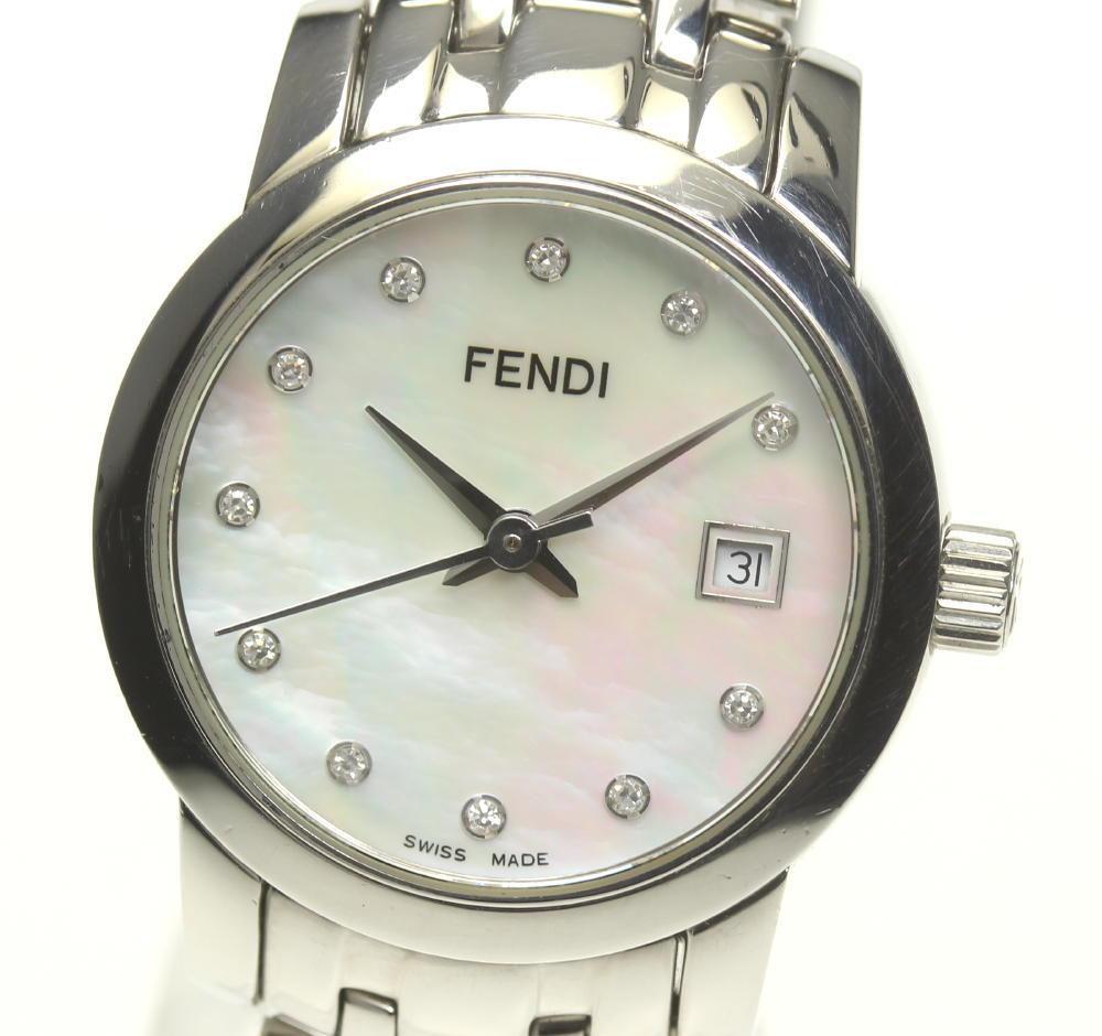 ☆良品【FENDI】フェンディ 11P 2100L クォーツ レディース