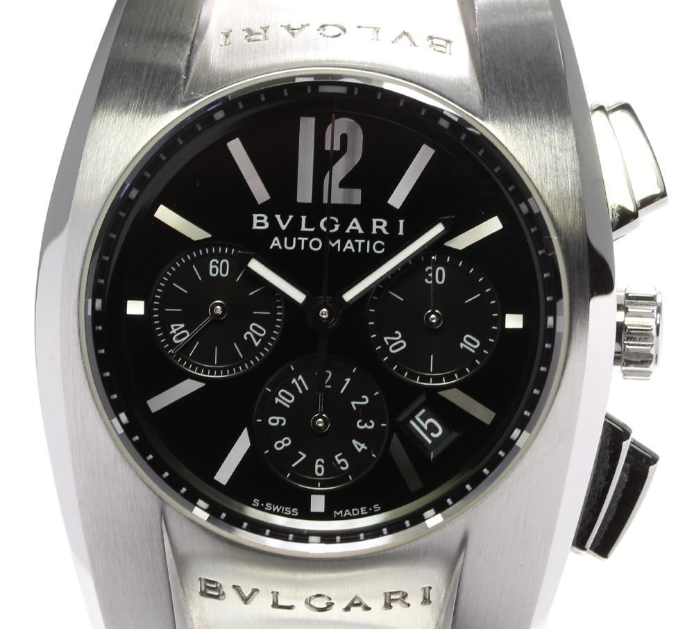 ☆良品【BVLGARI】ブルガリ エルゴン クロノグラフ EG35SCH 自動巻き ボーイズ【ev10】【中古】