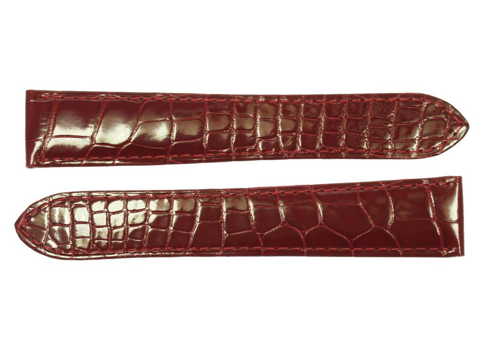 ☆未使用品☆【CARTIER】カルティエ ラグ幅 21mm 赤 腕時計用 革ベルト【中古】
