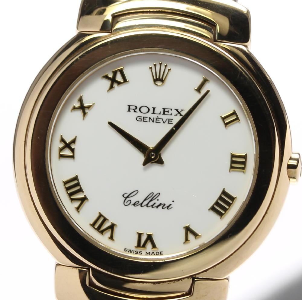 【ROLEX】ロレックス チェリーニ K18YG 6622 クォーツ メンズ【ev05】【中古】
