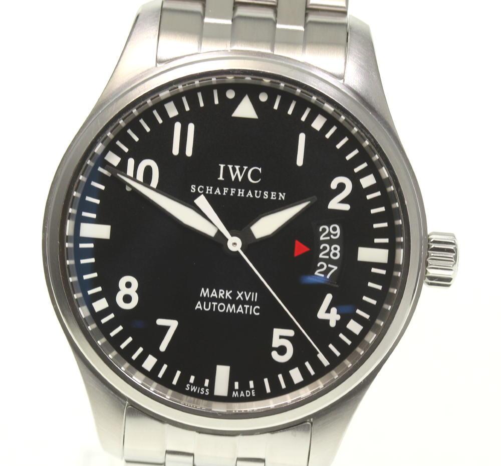 ☆良品【IWC】パイロットウォッチ マークXVII IW326504 自動巻き メンズ【中古】