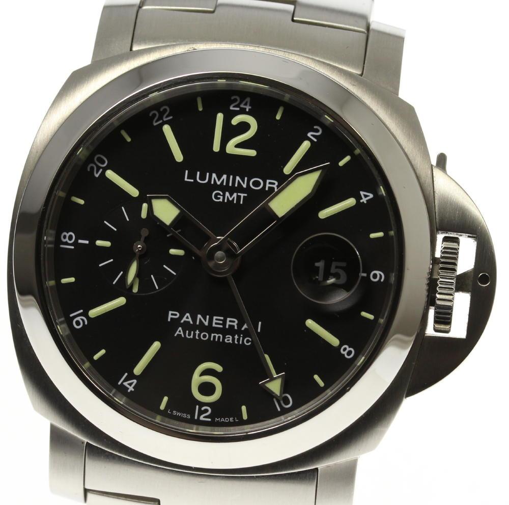 【PANERAI】パネライ ルミノール GMT デイト スモールセコンド PAM00297 自動巻き メンズ【ev05】【中古】