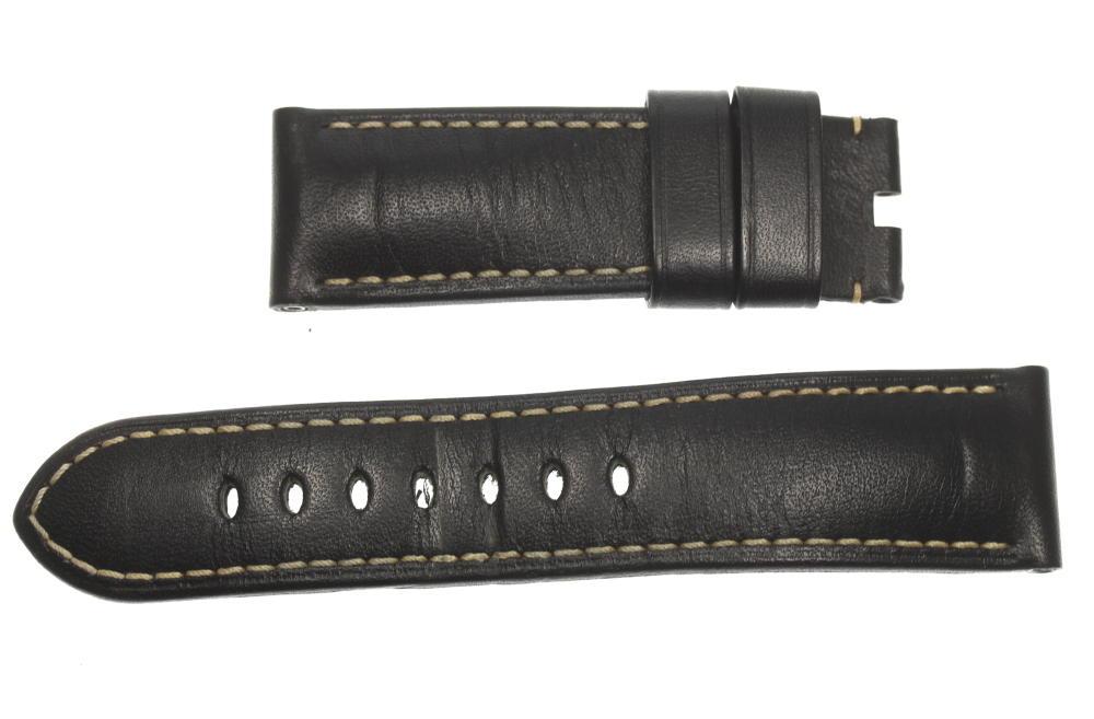 ☆良品【PANERAI】パネライ ラグ幅 24/22mm ブラック メンズ 腕時計用 革ベルト【ev10】【中古】