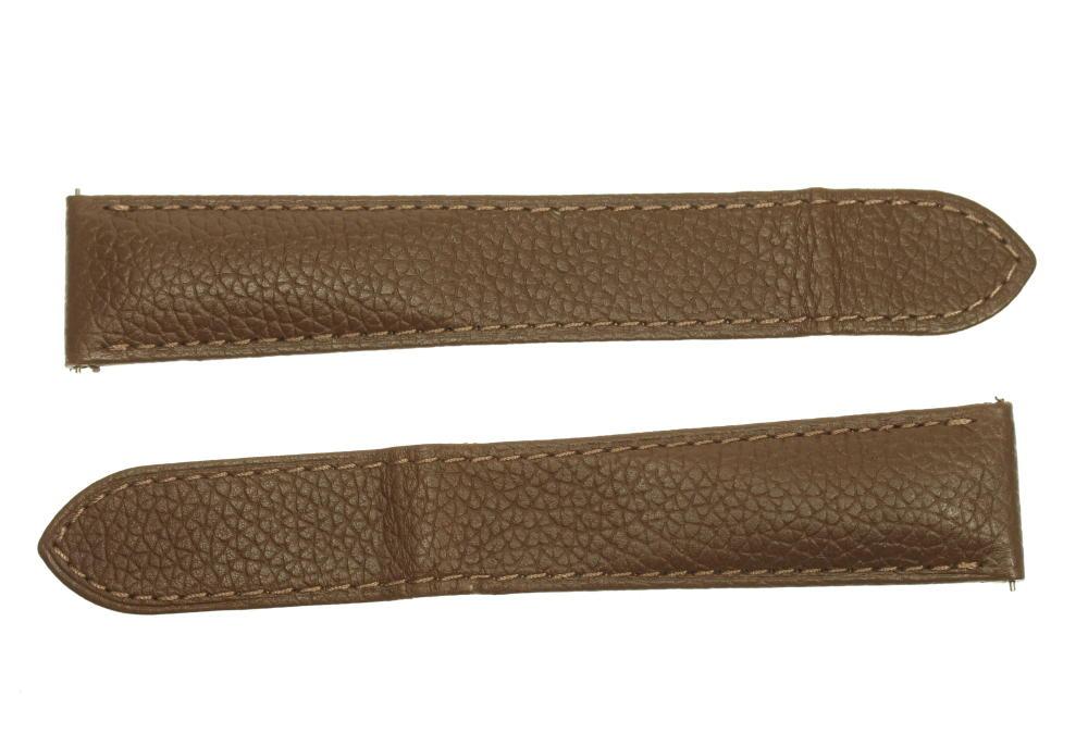 ☆美品【CARTIER】カルティエ ラグ幅21ミリ ブラウン系 メンズ 腕時計用 革ベルト【ev10】【中古】