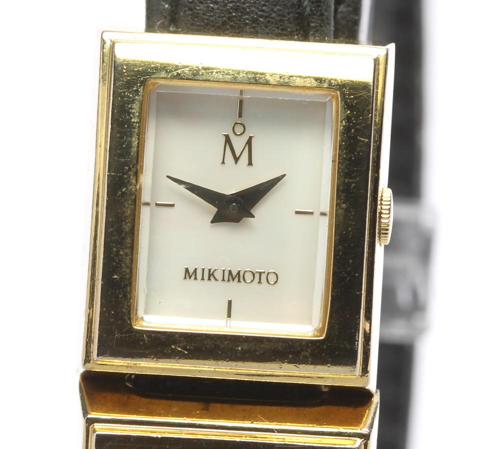 ブランド腕時計専門店CLOSER 15時までの決済で即日発送可能です 在庫数大幅増加中 早い者勝ち☆是非ご利用下さいませ 信頼 MIKIMOTO ミキモト レディース 海外輸入 ドゥブルトゥール マルチフォーム クォーツ 中古