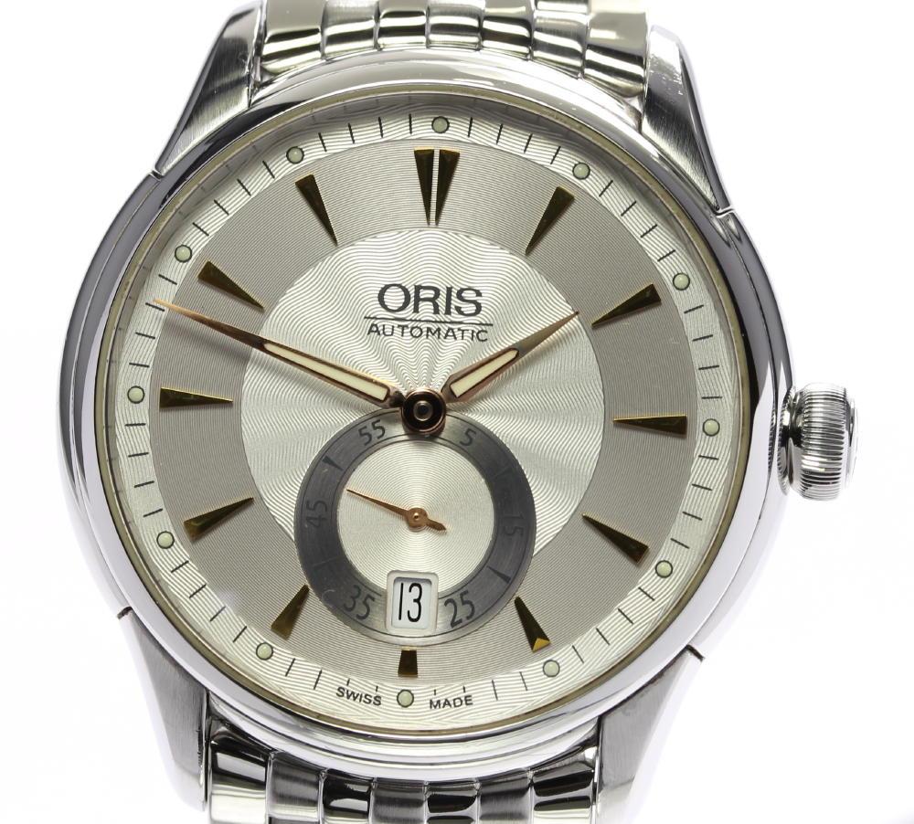 ☆良品【ORIS】オリス アートリエ デイト スモールセコンド 7582 自動巻き メンズ【中古】