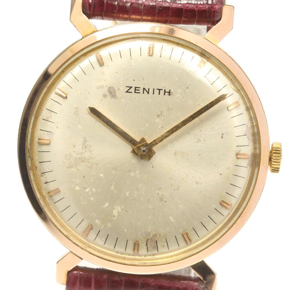 【ZENITH】ゼニス ラウンド Cal.2310 手巻き 革ベルト メンズ【中古】