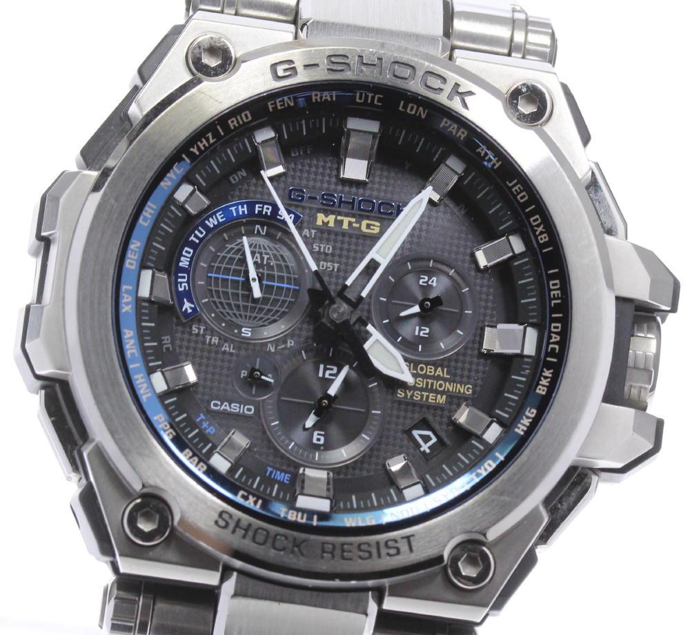 贈与 お求めやすく価格改定 ブランド腕時計専門店CLOSER 15時までの決済で即日発送可能です 在庫数大幅増加中 早い者勝ち☆是非ご利用下さいませ ☆良品 CASIO カシオ 中古 MTG-G1000D-1A2JF メンズ ソーラー電波 GPS Gショック