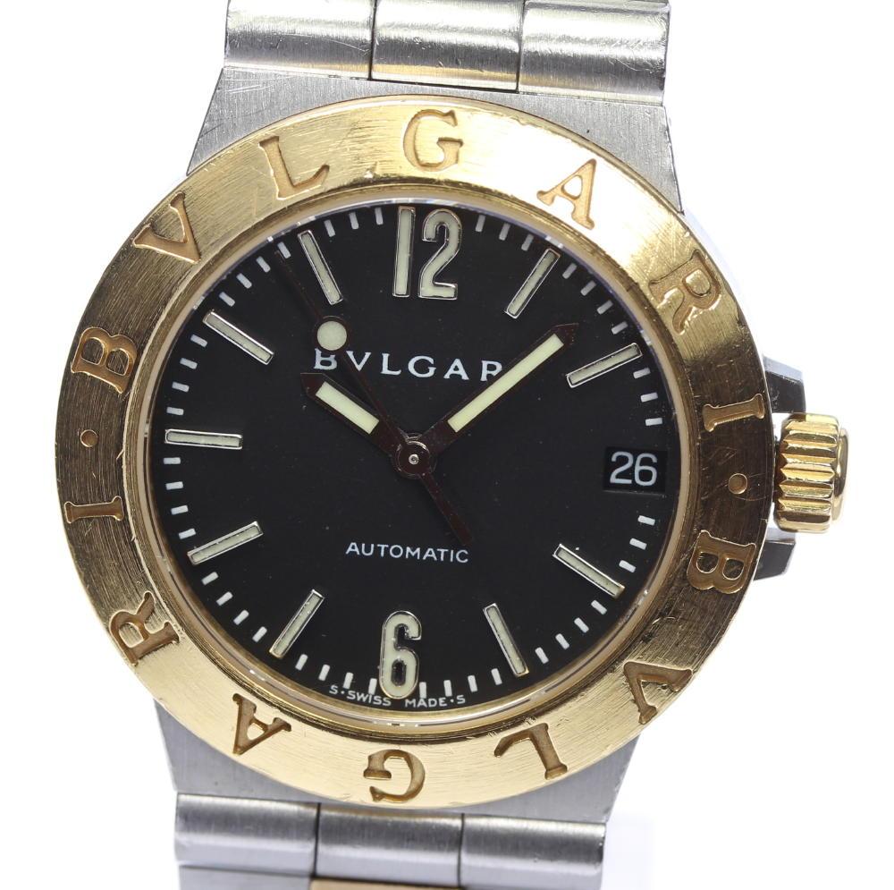 ブランド腕時計専門店CLOSER 15時までの決済で即日発送可能です 在庫数大幅増加中 人気ショップが最安値挑戦 早い者勝ち☆是非ご利用下さいませ 全商品オープニング価格 BVLGARI ブルガリ ディアゴノスポーツ レディース LCV29SG 中古 自動巻き デイト