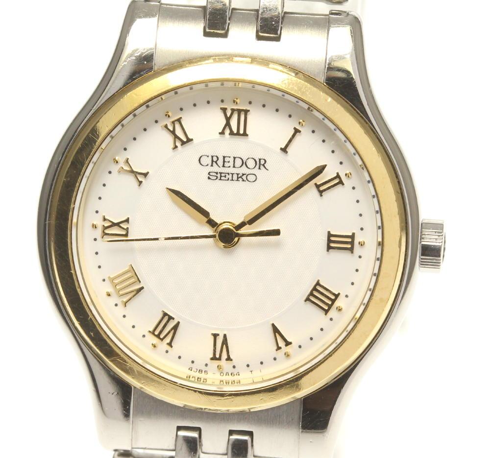ブランド腕時計専門店CLOSER 激安セール 15時までの決済で即日発送可能です 在庫数大幅増加中 本日の目玉 早い者勝ち☆是非ご利用下さいませ SEIKO セイコー クォーツ 中古 クレドール 4J85-0A20 レディース