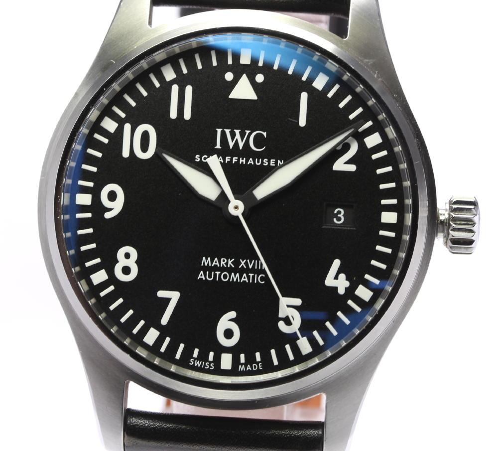 ☆良品【IWC】パイロットウォッチ マークXVIII デイト IW327001 自動巻き メンズ【中古】