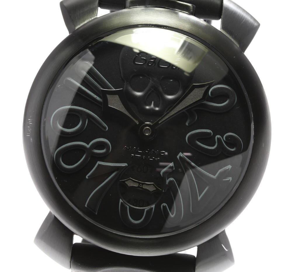 保付き【GaGa MILANO】ガガミラノ マヌアーレ48 アートコレクション 5012ART.01S 手巻き メンズ【中古】