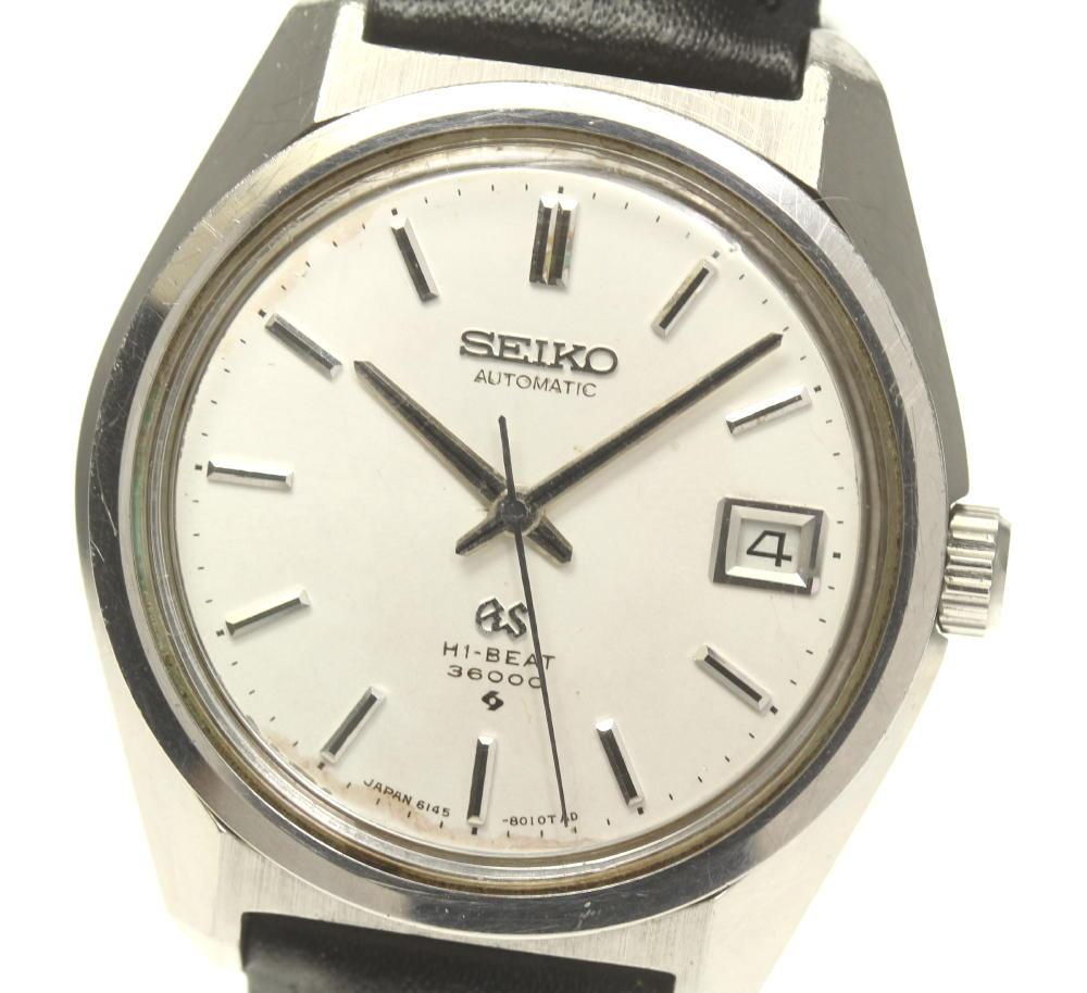 【SEIKO】セイコー グランドセイコー デイト cal.6145A 6145-8000 自動巻き メンズ【中古】