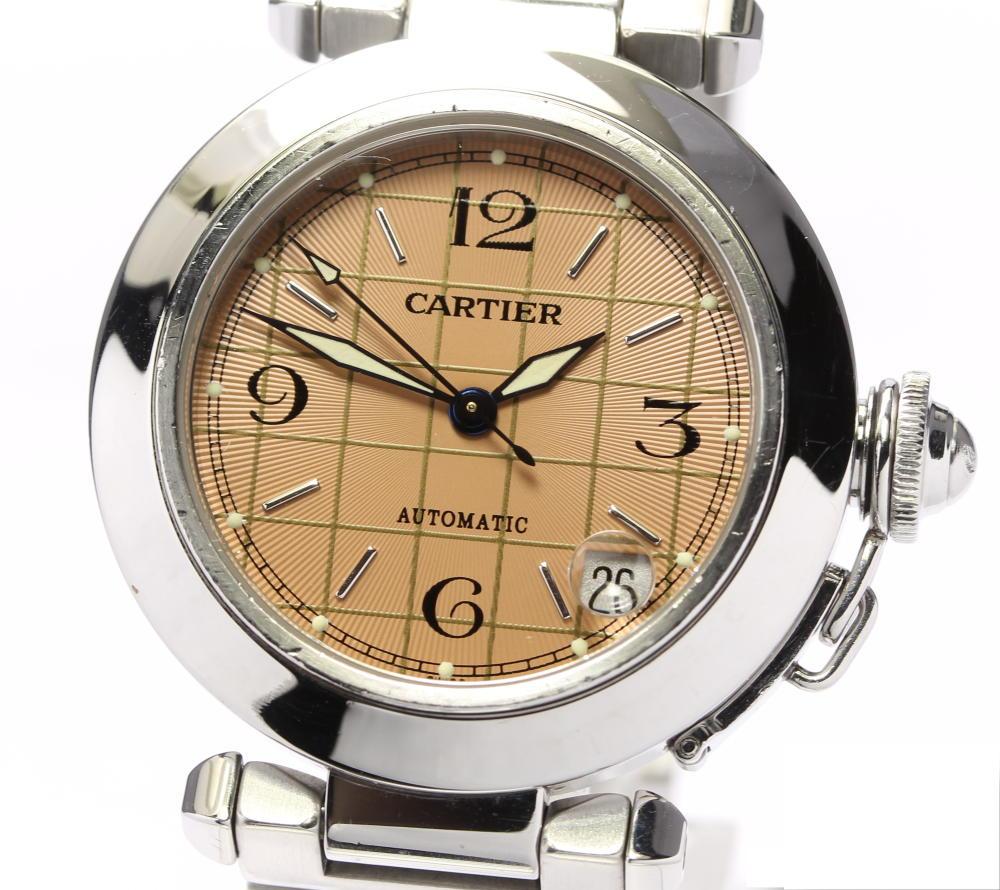 ☆良品【CARTIER】カルティエ パシャC デイト W31024M7 自動巻き ボーイズ【中古】
