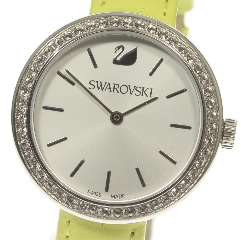 ブランド腕時計専門店CLOSER 15時までの決済で即日発送可能です 在庫数大幅増加中 早い者勝ち☆是非ご利用下さいませ 誕生日/お祝い ☆美品 SWAROVSKI スワロフスキー 格安店 中古 クォーツ レディース 5095643