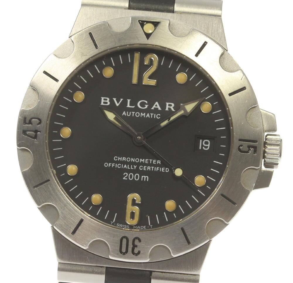 【BVLGARI】ブルガリ ディアゴノ デイト SD38S 自動巻き メンズ【中古】
