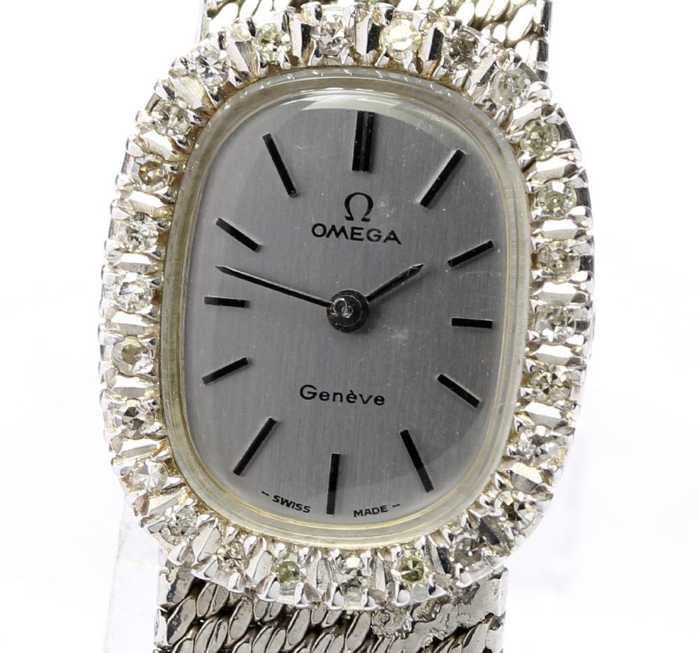 【OMEGA】オメガ ジュネーブ ダイヤベゼル cal,1070 アンティーク 手巻き レディース【中古】