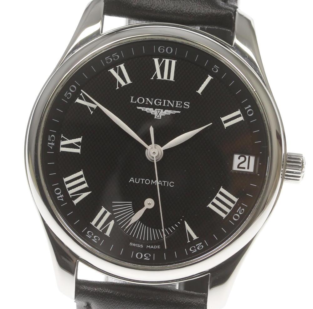 購買 ブランド腕時計専門店CLOSER 15時までの決済で即日発送可能です 在庫数大幅増加中 早い者勝ち☆是非ご利用下さいませ LONGINES 日本産 ロンジン マスターコレクション 中古 自動巻き L2.666.4 メンズ デイト パワーリザーブ