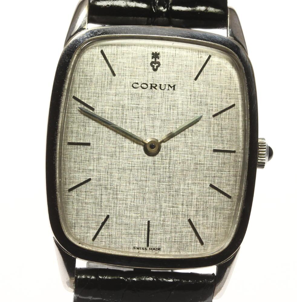 ブランド腕時計専門店CLOSER 15時までの決済で即日発送可能です 在庫数大幅増加中 早い者勝ち☆是非ご利用下さいませ メーカー直売 CORUM コルム 贈呈 中古 アンティーク メンズ K18WG 手巻き