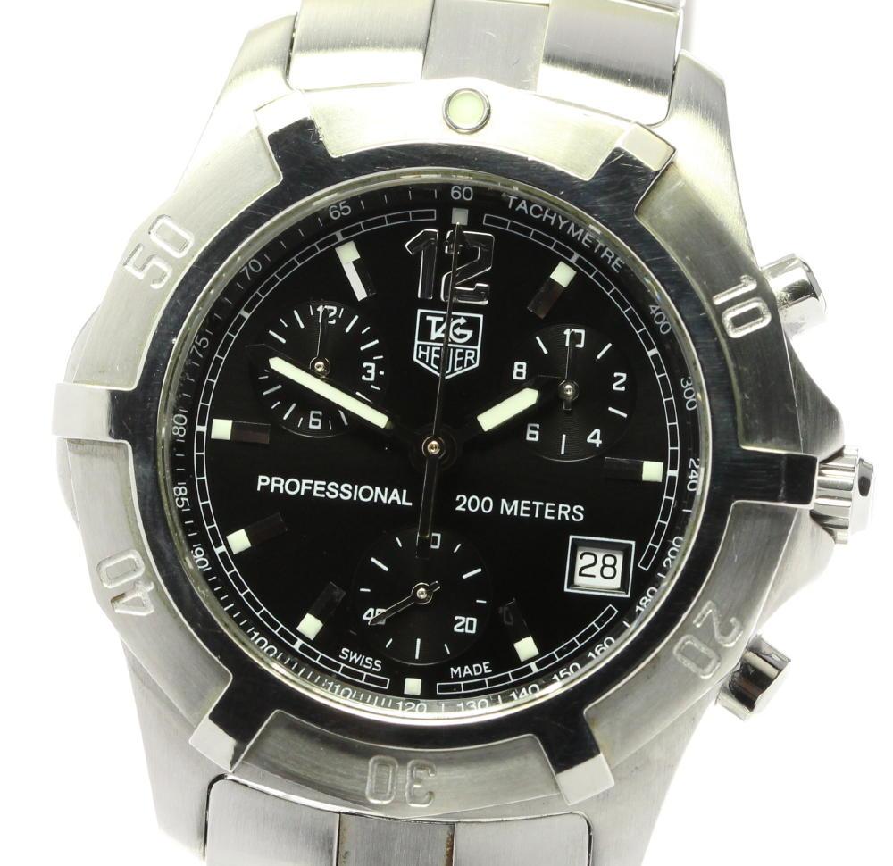 ブランド腕時計専門店CLOSER 15時までの決済で即日発送可能です 在庫数大幅増加中 早い者勝ち☆是非ご利用下さいませ TAG HEUER タグホイヤー クォーツ 日本最大級の品揃え メンズ エクスクルーシブ 商店 中古 CN1110 クロノグラフ