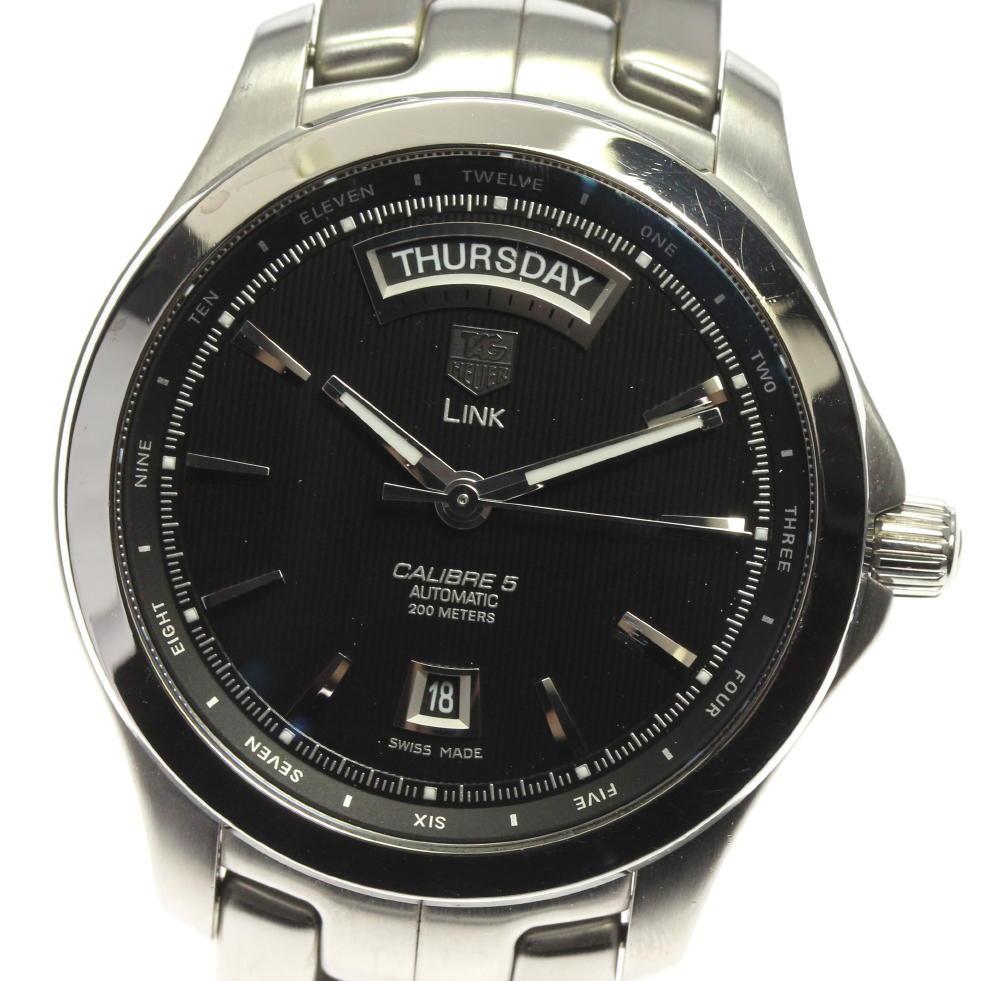 ブランド腕時計専門店CLOSER 15時までの決済で即日発送可能です 在庫数大幅増加中 早い者勝ち☆是非ご利用下さいませ TAG HEUER 日本正規品 タグホイヤー メンズ 自動巻き 中古 キャリバー5 オリジナル WJF2010.BA0592 デイデイト リンク