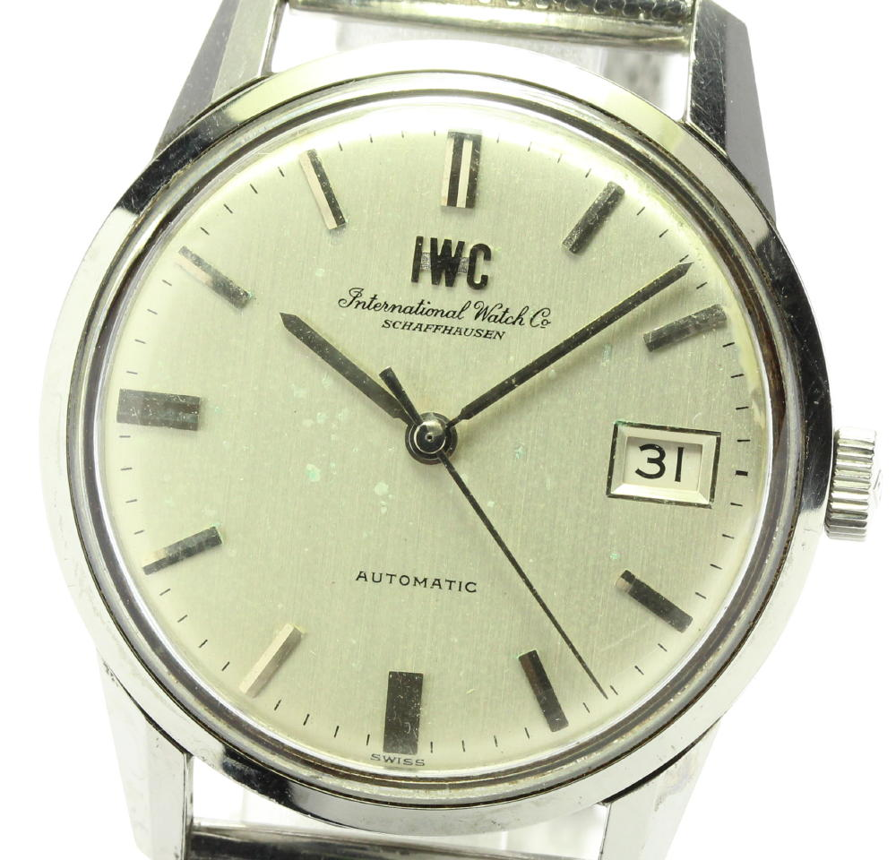 ブランド腕時計専門店CLOSER 15時までの決済で即日発送可能です 在庫数大幅増加中 物品 早い者勝ち☆是非ご利用下さいませ IWC SCHAFFHAUSEN デイト 自動巻き メンズ 中古 cal 安全 8541 34ミリ