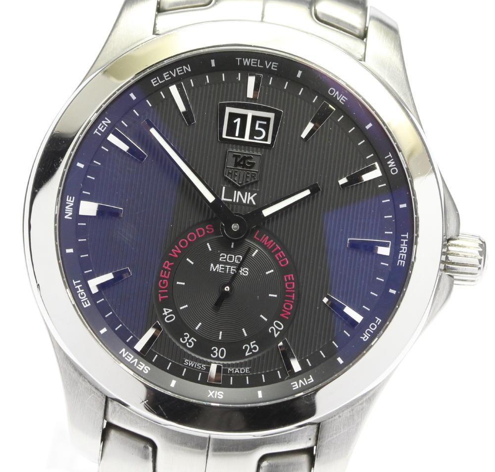 ブランド腕時計専門店CLOSER 15時までの決済で即日発送可能です 在庫数大幅増加中 早い者勝ち☆是非ご利用下さいませ TAG 一部予約 HEUER タグホイヤー 流行 8000本限定 中古 メンズ WJF1010 リンク タイガーウッズモデル クォーツ