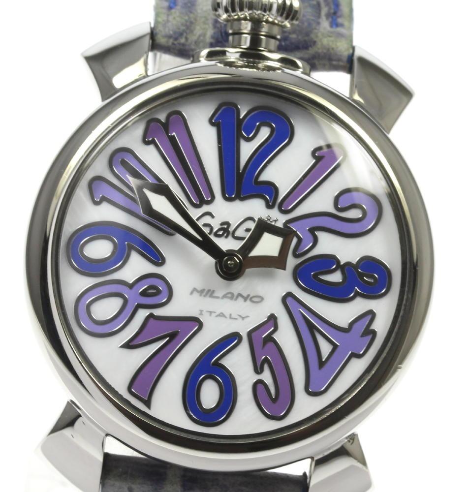 ブランド腕時計専門店CLOSER 15時までの決済で即日発送可能です 在庫数大幅増加中 早い者勝ち☆是非ご利用下さいませ GaGa MILANO ガガミラノ マヌアーレ40 レディース 保証書付き 5020.3 価格交渉OK送料無料 クォーツ 永遠の定番 中古
