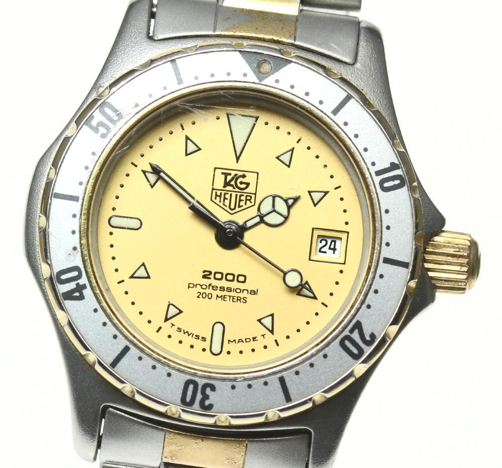 ブランド腕時計専門店CLOSER 15時までの決済で即日発送可能です 在庫数大幅増加中 早い者勝ち☆是非ご利用下さいませ TAG HEUER タグホイヤー ご予約品 クォーツ 974.008 中古 デイト レディース 2000シリーズ <セール&特集>