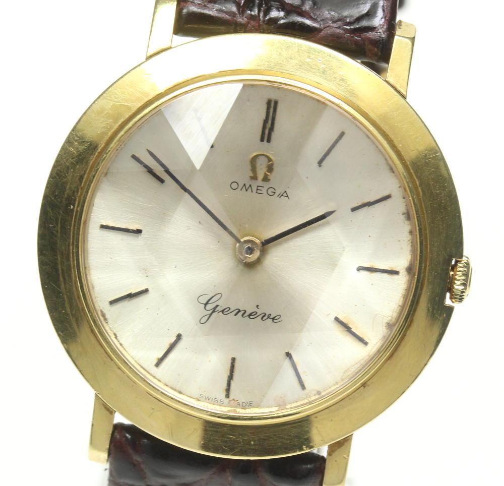 ブランド腕時計専門店CLOSER 15時までの決済で即日発送可能です 在庫数大幅増加中 早い者勝ち☆是非ご利用下さいませ OMEGA オメガ 手巻き アンティーク 訳あり 中古 K18YG 賜物 ボーイズ