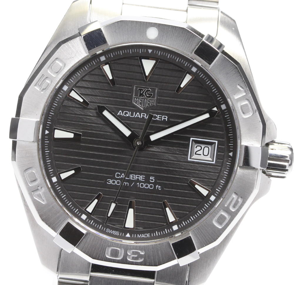 ブランド腕時計専門店CLOSER 15時までの決済で即日発送可能です 高級 在庫数大幅増加中 早い者勝ち☆是非ご利用下さいませ TAG HEUER タグホイヤー 自動巻き デイト メンズ キャリバー5 中古 アクアレーサー 評価 WAY2113