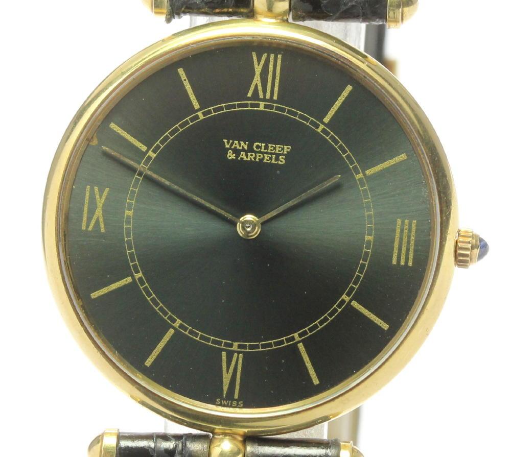 限定特価 ブランド腕時計専門店CLOSER 15時までの決済で即日発送可能です 在庫数大幅増加中 早い者勝ち☆是非ご利用下さいませ Van Cleef Arpels ヴァンクリーフ ラ メンズ 中古 コレクション K18YG 手巻き アーペル 大放出セール