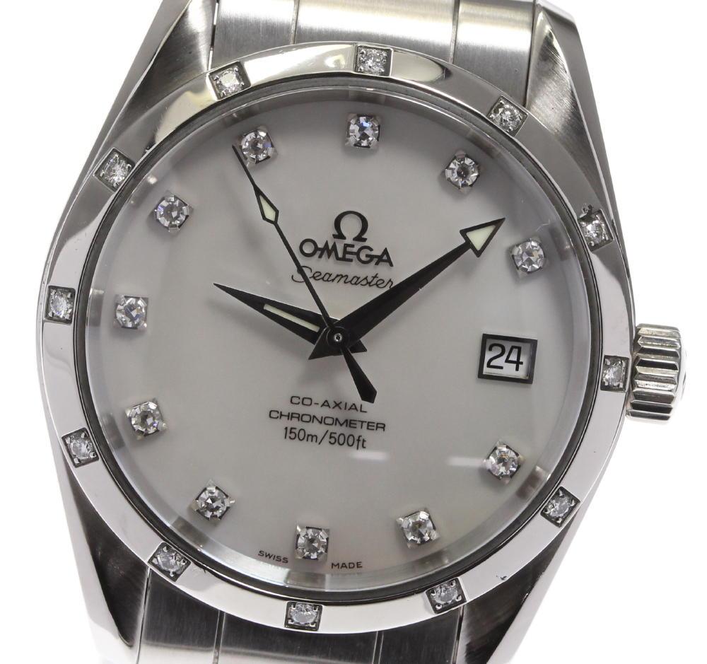 ブランド腕時計専門店CLOSER 15時までの決済で即日発送可能です 在庫数大幅増加中 早い者勝ち☆是非ご利用下さいませ 低廉 OMEGA ストア オメガ シーマスター ダイヤモンド 中古 アクアテラ ボーイズ 2505.75 自動巻き