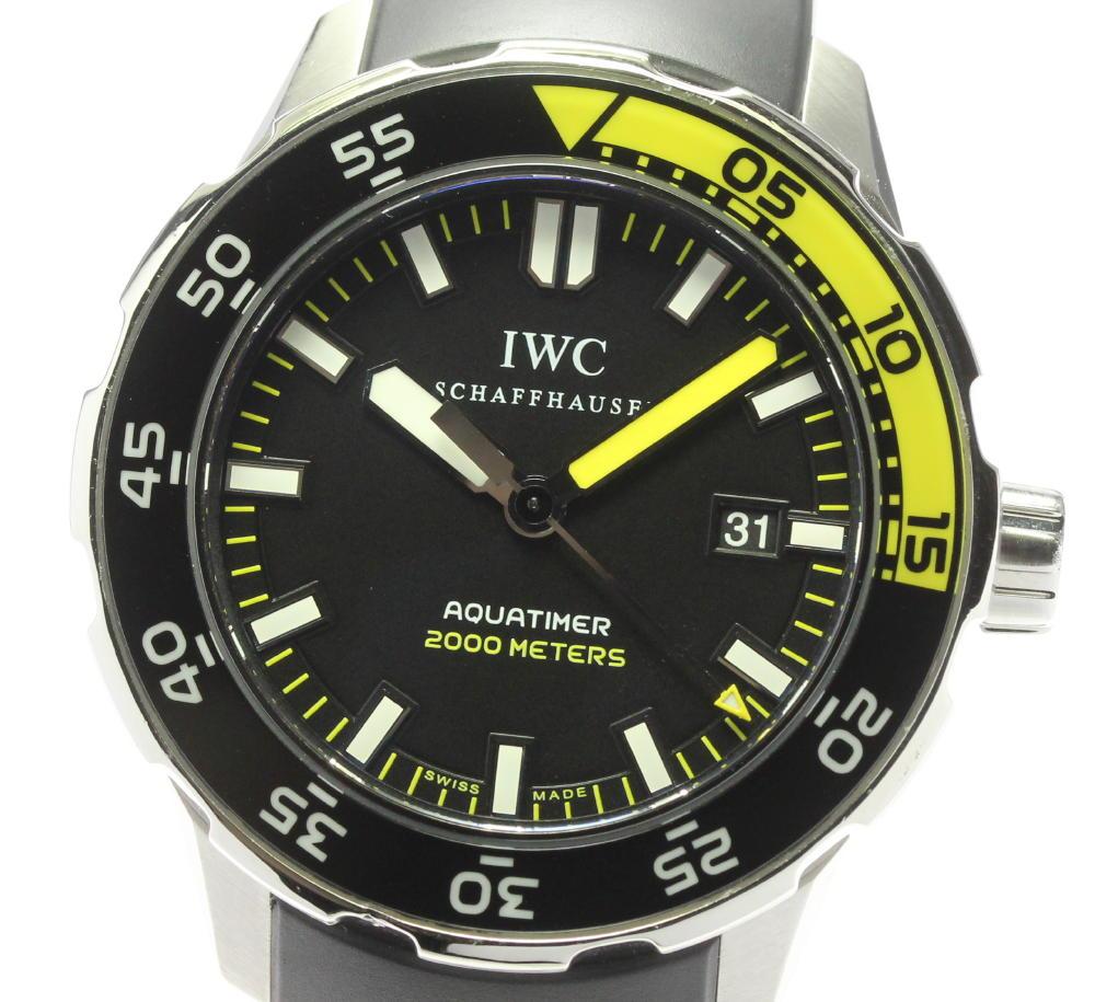 ブランド腕時計専門店CLOSER 年末年始大決算 15時までの決済で即日発送可能です 在庫数大幅増加中 早い者勝ち☆是非ご利用下さいませ IWC アクアタイマー 自動巻き 中古 メンズ IW356810 倉 2000