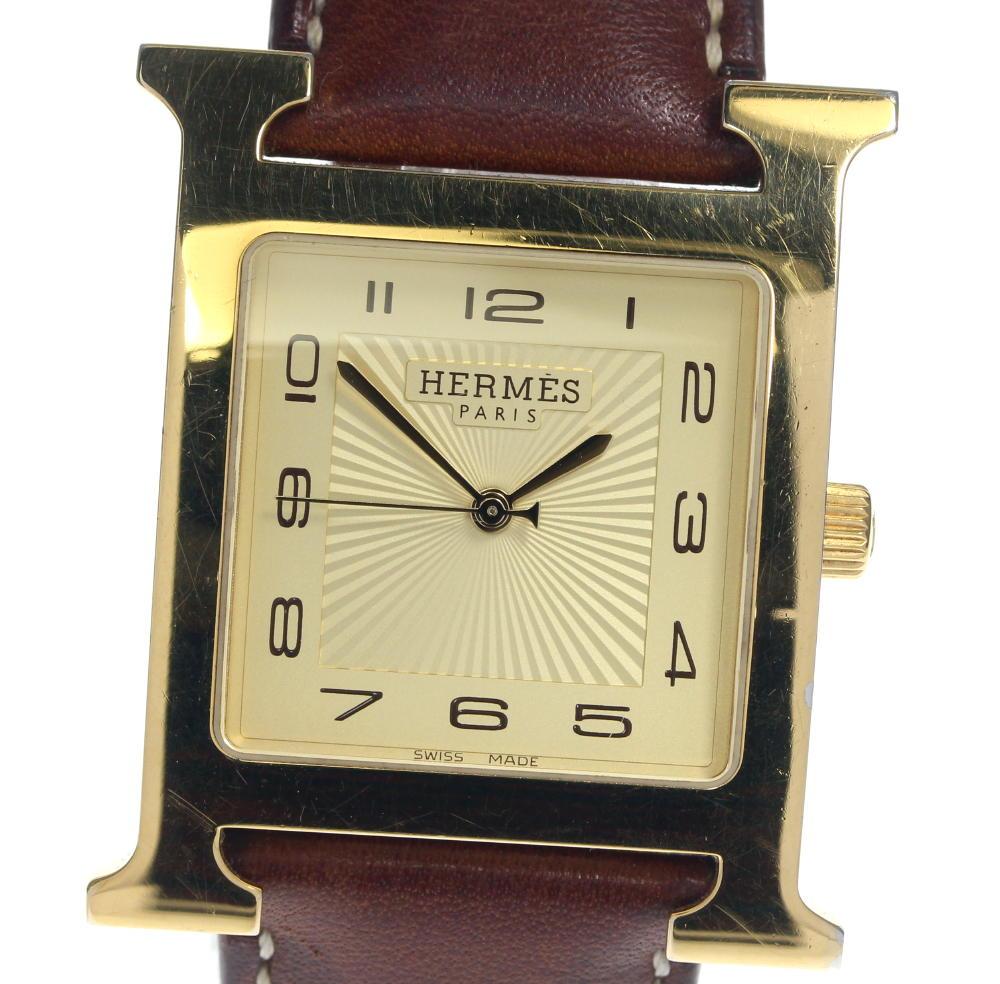 ブランド腕時計専門店CLOSER 15時までの決済で即日発送可能です 在庫数大幅増加中 早い者勝ち☆是非ご利用下さいませ 注目ブランド HERMES エルメス HH1.801 アイテム勢ぞろい Hウォッチ クォーツ 中古 メンズ
