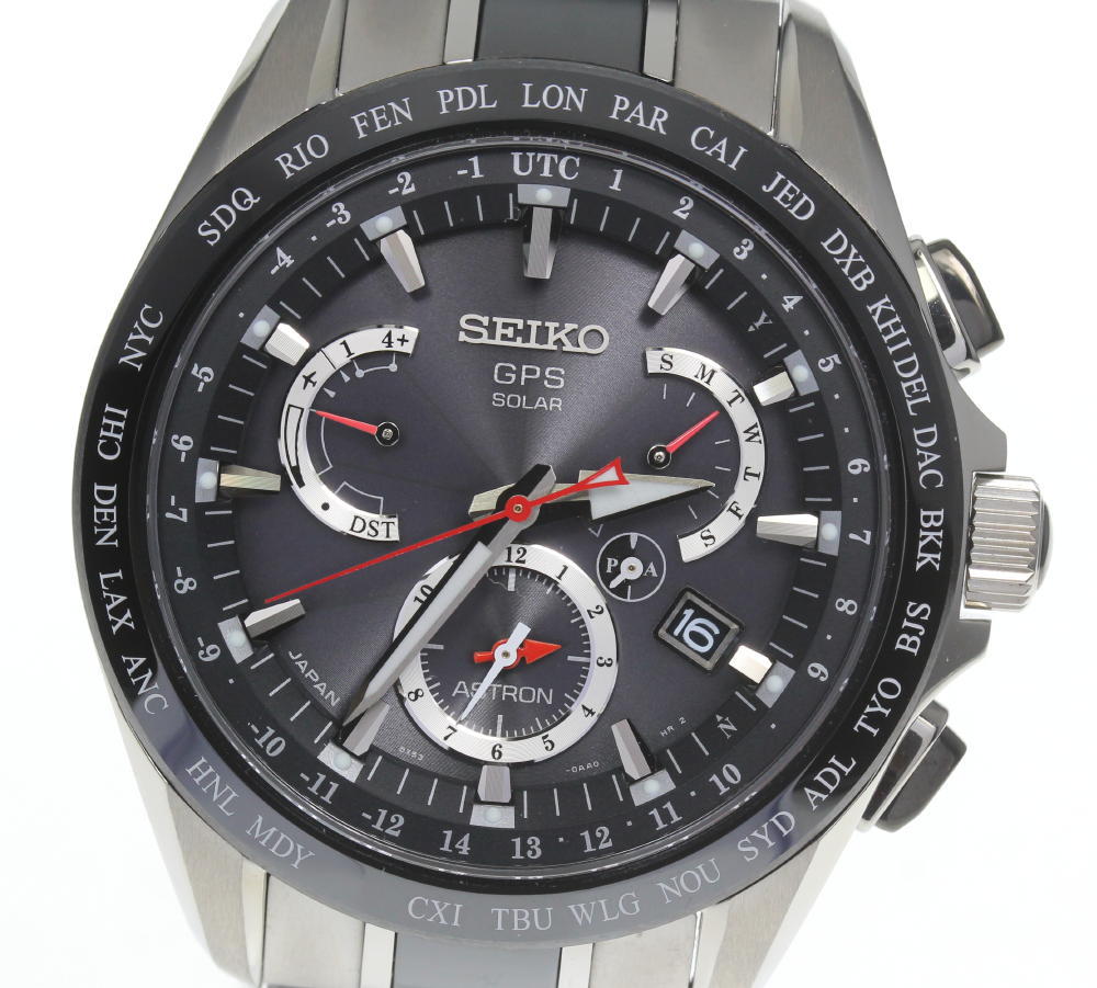ブランド腕時計専門店CLOSER 15時までの決済で即日発送可能です 在庫数大幅増加中 早い者勝ち☆是非ご利用下さいませ ☆美品 保証書 商い 箱付 SEIKO メンズ ソーラー電波 35%OFF 中古 アストロン 8X53-0AB0-2 セイコー デイト SBXB041