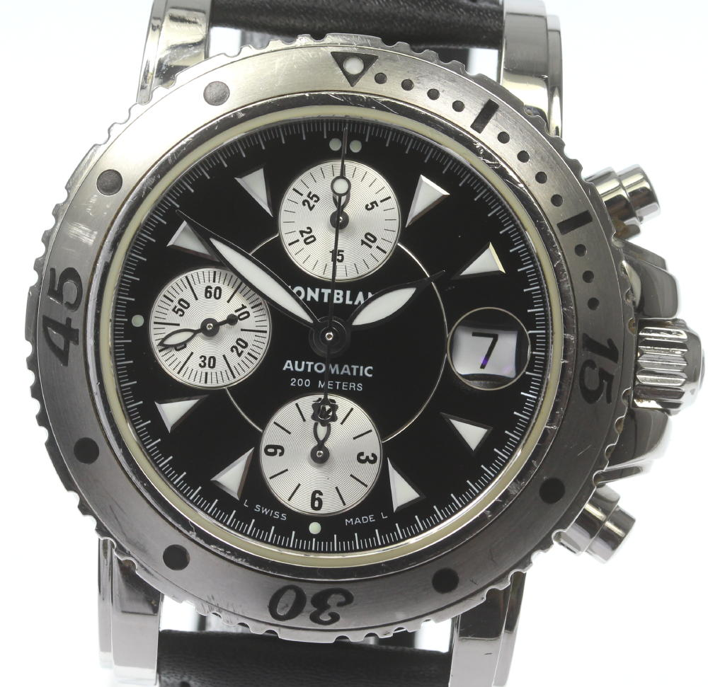 ブランド腕時計専門店CLOSER 期間限定で特別価格 15時までの決済で即日発送可能です 在庫数大幅増加中 早い者勝ち☆是非ご利用下さいませ MONTBLANC モンブラン メンズ 自動巻き 中古 7034 高額売筋 マイスターシュティック クロノグラフ