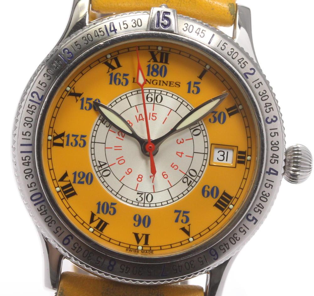 ブランド腕時計専門店CLOSER 定番から日本未入荷 15時までの決済で即日発送可能です 在庫数大幅増加中 早い者勝ち☆是非ご利用下さいませ LONGINES ロンジン メンズ 自動巻き NEW L2.617.4 アワーアングル 中古 リンドバーグ