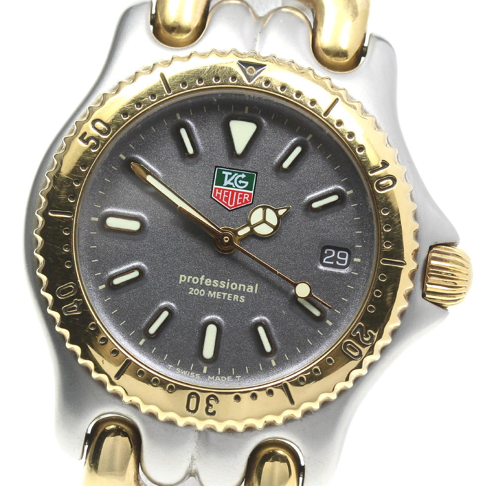 ブランド腕時計専門店CLOSER オンラインショッピング 15時までの決済で即日発送可能です 卸売り 在庫数大幅増加中 早い者勝ち☆是非ご利用下さいませ TAG HEUER タグホイヤー プロフェッショナル200 中古 セル ボーイズ S95.213-1 クォーツ
