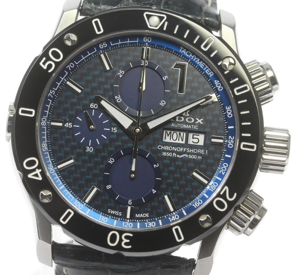 絶品 ブランド腕時計専門店CLOSER 15時までの決済で即日発送可能です 在庫数大幅増加中 早い者勝ち☆是非ご利用下さいませ EDOX エドックス メンズ 01122 デイデイト 中古 クロノオフショア1 自動巻き 低価格化