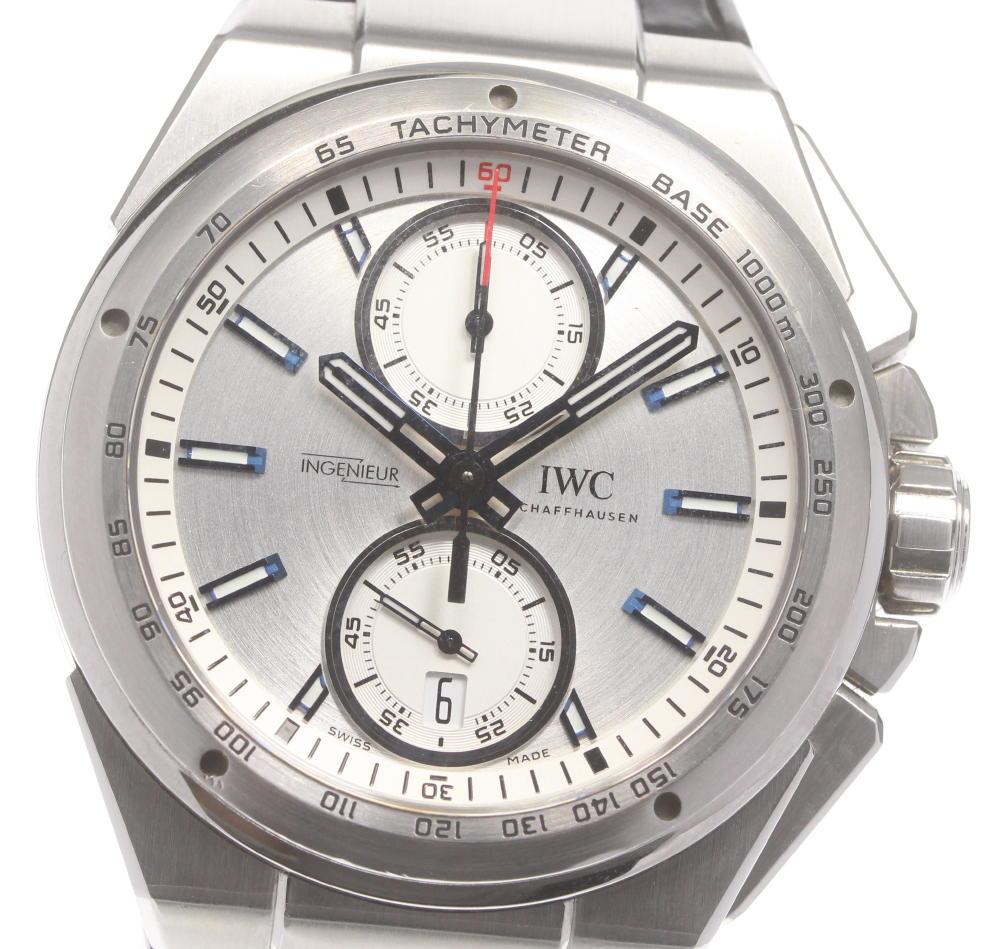 無料サンプルOK 期間限定特別価格 ブランド腕時計専門店CLOSER 15時までの決済で即日発送可能です 在庫数大幅増加中 早い者勝ち☆是非ご利用下さいませ IWC インヂュニア メンズ レーサー IW378509 自動巻き クロノグラフ 中古