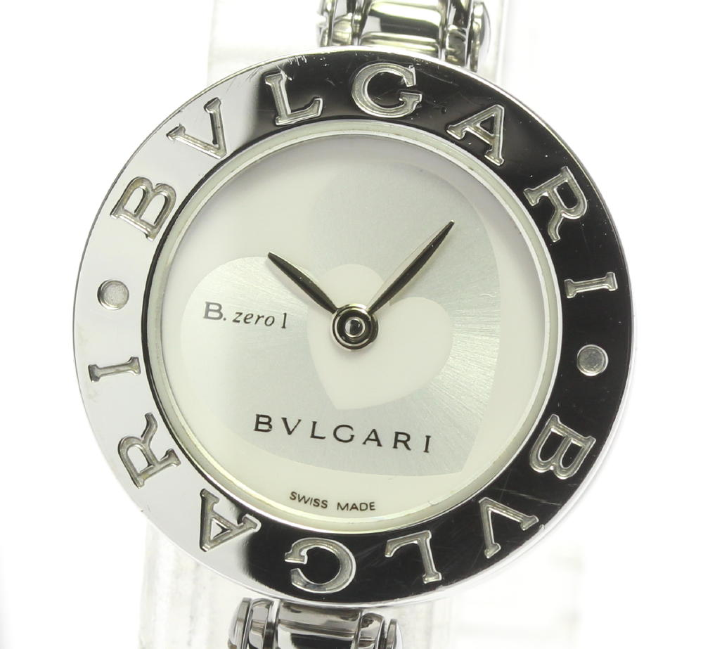 ブランド腕時計専門店CLOSER 15時までの決済で即日発送可能です 在庫数大幅増加中 早い者勝ち☆是非ご利用下さいませ ☆良品 BVLGARI ブルガリ 中古 商舗 B-zero1 レディース クォーツ ダブルハート バングルSサイズ 期間限定 BZ22S