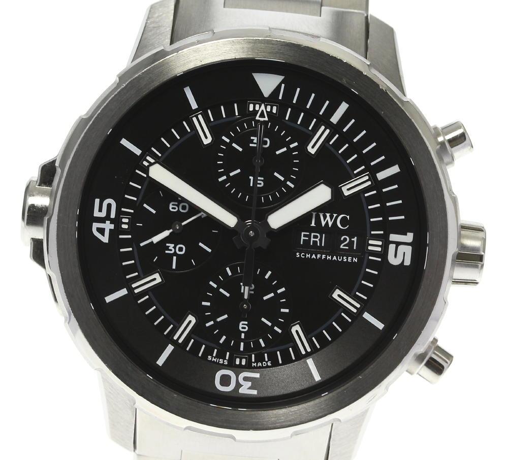 ブランド腕時計専門店CLOSER 15時までの決済で即日発送可能です 在庫数大幅増加中 早い者勝ち☆是非ご利用下さいませ IWC 商品 SCHAFFHAUSEN アクアタイマー IW376804 クロノグラフ 自動巻き 新入荷 流行 中古 メンズ デイデイト
