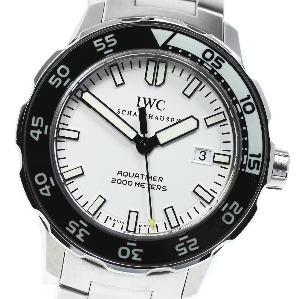 ブランド腕時計専門店CLOSER 15時までの決済で即日発送可能です 舗 在庫数大幅増加中 早い者勝ち☆是非ご利用下さいませ ☆良品 保証書付☆ IWC アクアタイマー 中古 デイト 完売 IW356809 メンズ 自動巻き