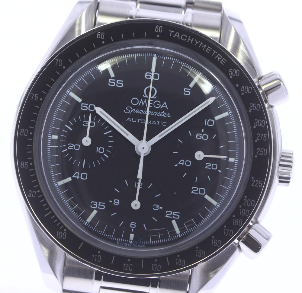 ブランド腕時計専門店CLOSER 売却 15時までの決済で即日発送可能です 在庫数大幅増加中 早い者勝ち☆是非ご利用下さいませ 公式サイト ☆良品 OMEGA オメガ 中古 スピードマスター クロノグラフ 自動巻き 3510.50 メンズ