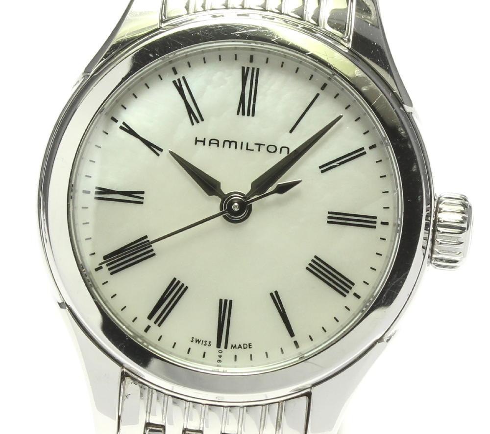 新色追加 ブランド腕時計専門店CLOSER 15時までの決済で即日発送可能です 在庫数大幅増加中 早い者勝ち☆是非ご利用下さいませ HAMILTON ハミルトン 保証 レディース 中古 クォーツ バリアント H392510