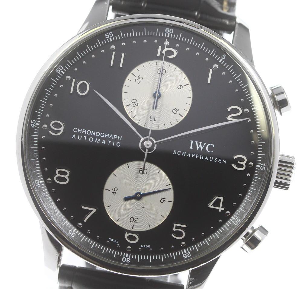 ブランド腕時計専門店CLOSER 15時までの決済で即日発送可能です 超人気 品質検査済 在庫数大幅増加中 早い者勝ち☆是非ご利用下さいませ IWC ポルトギーゼ メンズ 自動巻き IW371404 中古 クロノグラフ