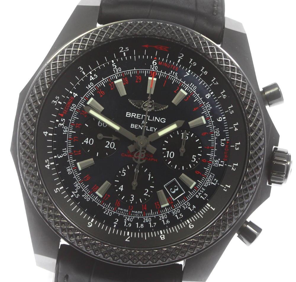 ブランド腕時計専門店CLOSER 15時までの決済で即日発送可能です 在庫数大幅増加中 早い者勝ち☆是非ご利用下さいませ ☆美品 安い 箱保 BREITLING ブライトリング ついに入荷 ベントレー MB0611 クロノグラフ 中古 MB061113 メンズ BE60 自動巻き