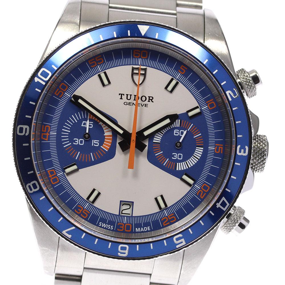 ブランド腕時計専門店CLOSER 15時までの決済で即日発送可能です 在庫数大幅増加中 早い者勝ち☆是非ご利用下さいませ TUDOR 期間限定 チュードル ヘリテージクロノ 自動巻き デイト 限定タイムセール 70330 メンズ 中古