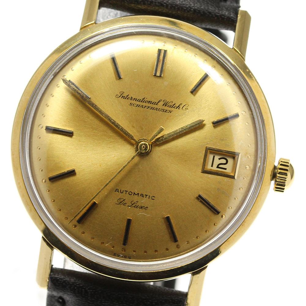 ブランド腕時計専門店CLOSER 贈答 15時までの決済で即日発送可能です 在庫数大幅増加中 早い者勝ち☆是非ご利用下さいませ IWC SCHAFFHAUSEN シャフハウゼン アンティーク デイト K18YG R807A 超定番 中古 cal.8541 メンズ 自動巻き